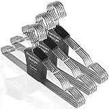 Qualsen Perchas Ropa Metal 30 Paquete Perchas de Acero Inoxidable Perchas para Abrigos de Metal