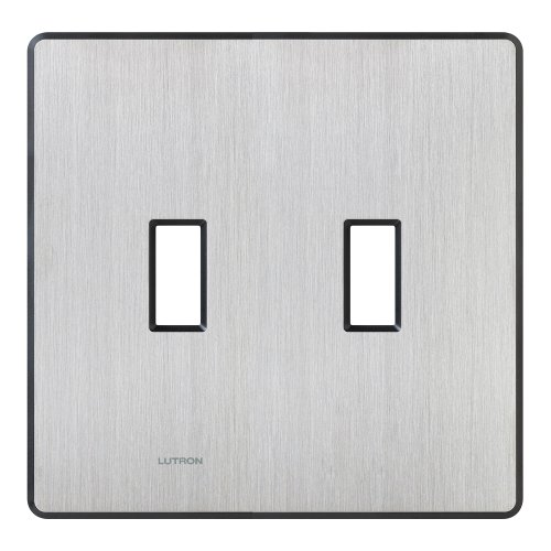 Lutron FW-2-SS Wall Plate, Stainless Steel