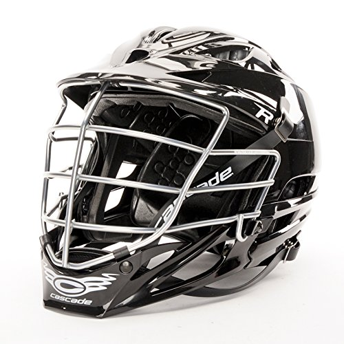 Cascade R Lacrosse Helmet - Carolina Blue, Chrome Facemask