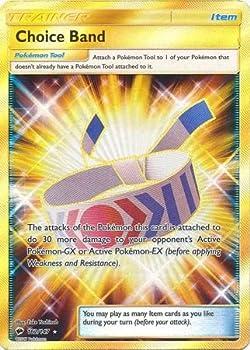 Pokemon Choice Band - 162/147 - Secret Rare - Sun & Moon  Burning Shadows