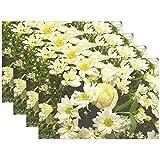 Arreglo floral Arreglo floral rosa Matrimonio 2260053 Juego de manteles individuales 6 para la mesa de comedor Alfombrillas antideslizantes de cocina duraderas