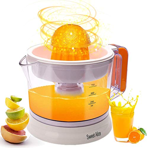 Lowest Prices! Electric Citrus Juicer, Large Capacity | Auto Reverse Pulp Fresh Oranges, Lemons, Lim...