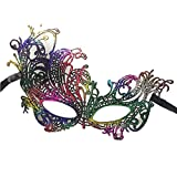 Colorful House Womens Masquerade Halloween Party Lace Eye Mask(Phoenxi, Multicolor)
