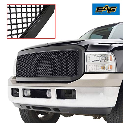 EAG Matte Black ABS Replacement Mesh Upper Grille Fit for 05-07 F-250/F-350/F-450 Super Duty
