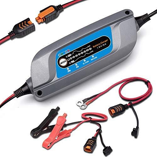 ERAYAK 5A Batterieladegerät, Vollautomatisches Intelligentes Ladegerät, 12V Batterieladegerät, Erhaltungsladegerät, und Batterie-Desulfator mit Temperaturkompensation