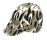 Comeaux Caps Reversible Welding Cap Gray Flames Size 7 1/2