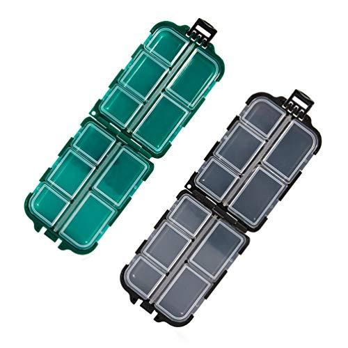 BESPORTBLE 2 Unidades de Caja de Señuelos de Pesca a Prueba de Agua con Ganchos para Cebos Y Cajas de Almacenamiento