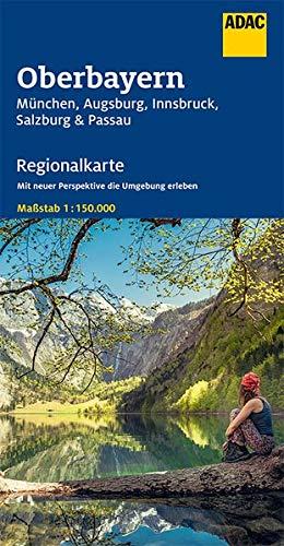 ADAC Regionalkarte Blatt 16 Oberbayern 1:150 000: München, Augsburg, Innsbruck, Salzburg, Passau (ADAC Regionalkarten 1:150.000)