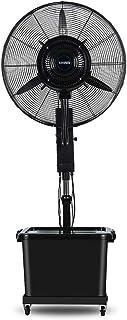 Ventilador de Nebulización Ventilador Oscilante para Exteriores De 26 '' con 3 Velocidades de Enfriamiento Pedestal Motor De Cobre Ventilador de Pie para Patio Jardín Invernadero