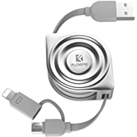 FLOVEME 2 in 1 USB Charger Cord for iPad, iPhone