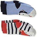 Joules Baby-Jungen Neat Feet Socken, Mehrfarbig (Multi Fox and Dog Multdogfox), Small (Herstellergröße: 0-6)