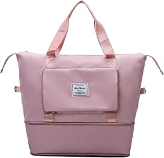JBJB Waterproof Large Capacity Foldable Storage Bag Handbag, Dry&Wet Separation Sports Portable Shoulder Bag