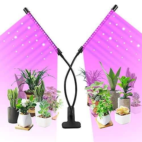 Pflanzenlampe LED, 40LEDs Vollspektrum Grow Light, USB Pflanzenlicht mit 3 Modus, 5 Helligkeitsstufen, 4/8/12H Timer, Grow lampe Pflanzenleuchte Wachstumslampe für Zimmerpflanzen, Sukkulenten