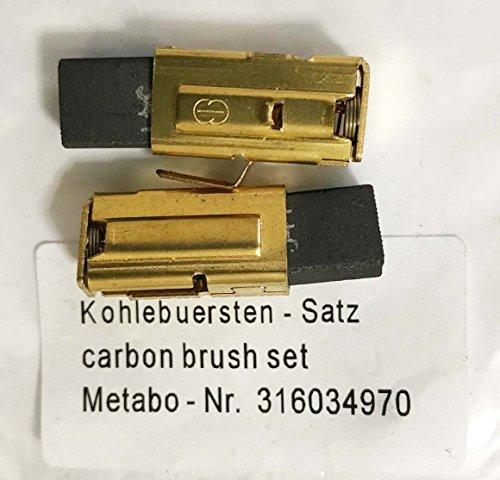 Metabo Kohlebürsten 316034970 343011830 für KHE-D28 KHE28 Kombination Uhe 28 Multi Uhe 28 Multi Bohrhammer BE1020 SBE1010 Plus, SBE1010 Bohrer M27A