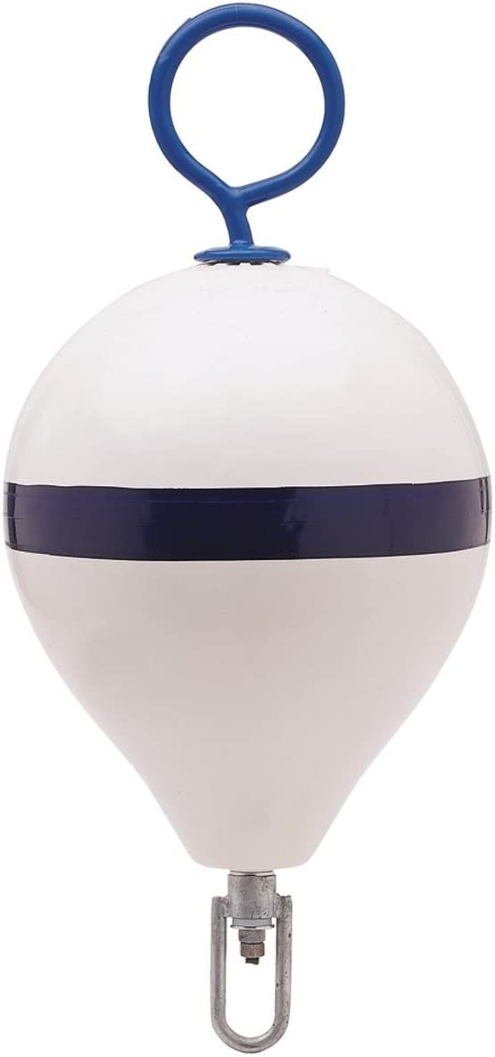 Polyform 5 ☆ popular Mooring Latest item Buoy w Iron 17 - Diameter White Stripe Blue