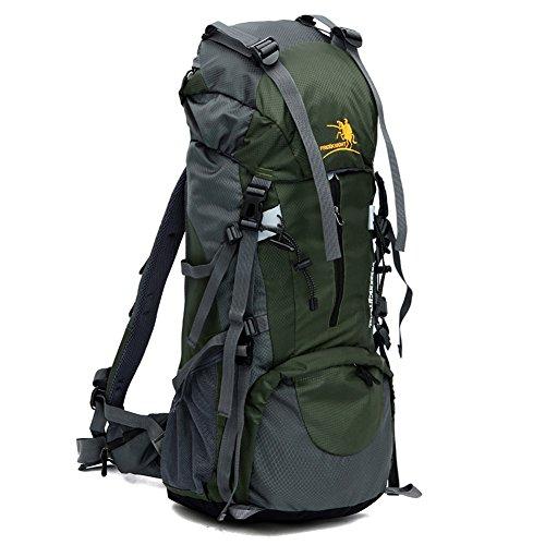 Lokep 70L sportives de plein air Cadre intérieur résistant à l'eau Sac à dos Sac à dos de randonnée pour l'escalade Camping de voyage et alpinisme (5 couleurs en option), green
