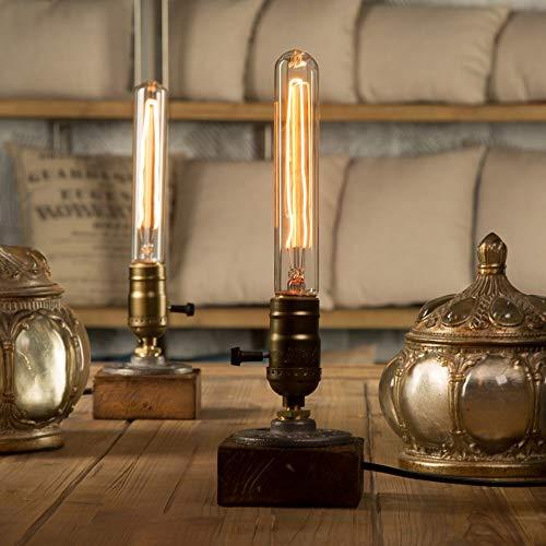 OUSENR Lámpara De Mesa Lámpara De Mesa De Madera Romántica Abajur Pará Quarto Regulable Lámpara De Escritorio Salón De Lectura Luz De Oficin