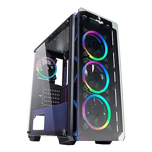 Noua Cool G4 - Caja para Ordenador ATX Gaming 0,60 mm SPCC 4 Ventiladores Dual...