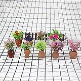 LjQQjDz 1/12 Puppenhaus Blume Simulation Blumentopf Modell Schreibtisch Handwerk Miniatur Puppenhaus...