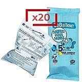 Lot de 20 Ethylotests jetables - Le Ballon - 0,5g/l - Norme NF
