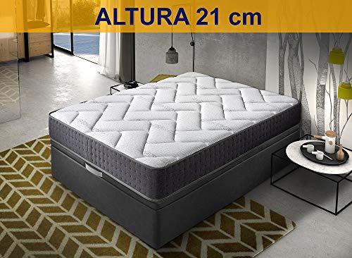 Relaxing-Confort, Colchon de 150x190 Viscoelastico-Grafeno, Espuma