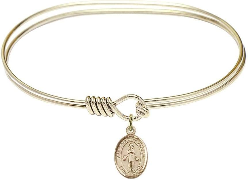 Bliss 7 Gorgeous inch Oval Eye Hook Bangle de a Nino St. Bracelet lowest price At with