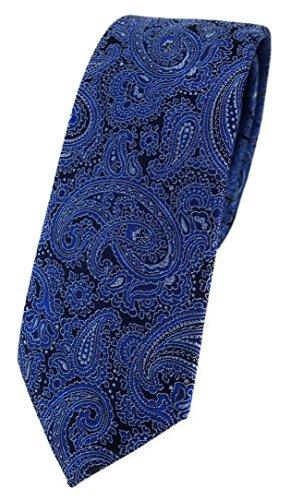 TigerTie - Corbata - Cachemir - para hombre Azul Dunkeblau Silber Schwarz Talla única