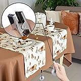 Tuxuzal 4er Set Tischdeckenbeschwerer für draußen Tischtuchklammern Tischtuchbeschwerer mit Klemmkraft Tischdeckenbeschwerer Vorhang Beschwerer Tischdecken Gewichte Runde Kugel - 4