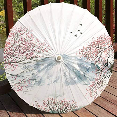 Retro oliepapierenkap, paraplu van papier voor zonnebrillen in de vorm van een pot in traditionele Chinese stijl voor regenbescherming, traditionele zonnebescherming