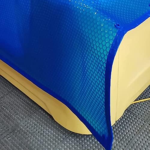 Lona Cobertor Piscina Cubierta Solar Azul para Piscinas con Edge Punching, Tarea Pesada Burbuja para Ayudar a Retener el Calor y Detiene Evaporación del Agua (Size : 2m x 3m(6ft×10ft))