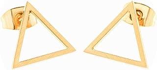 Unique Design Punk Design Fashion Triangle Round Geometric Stud Earrings