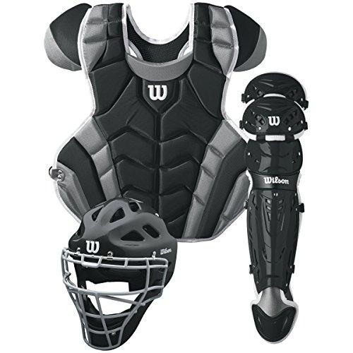 Wilson C1K Catcher's Gear Kit, Black
