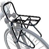 Portapacchi Anteriore per Bici, Staffa per Ciclismo Ripiano in Lega di Alluminio per Mountain Bike, Durevole in Generale Robusto, Buono per Conservare Rapidamente Le Merci,Black