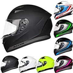 Leopard LEO-813 Motorhelm Full-face Helmen ECE-R 22-05 Goedgekeurd #01 Matt Black M (57-58cm) 'Road legal in Europe' Women's and Men's*