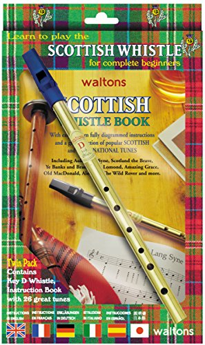 Waltons scottish Tin Whistle Twin Pack - Tutor Buch + D Pfeife