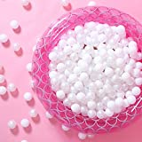 GOGOSO Kids Ball Pit Balls - 50 Ocean Ball for Babies Kids Children for Birthday Games Pool Christmas Parties Indoor Outdoor Play, White Ball Pack