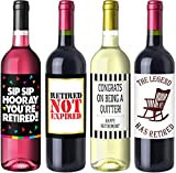 Retirement Party Wine Label Pack - Retirement...