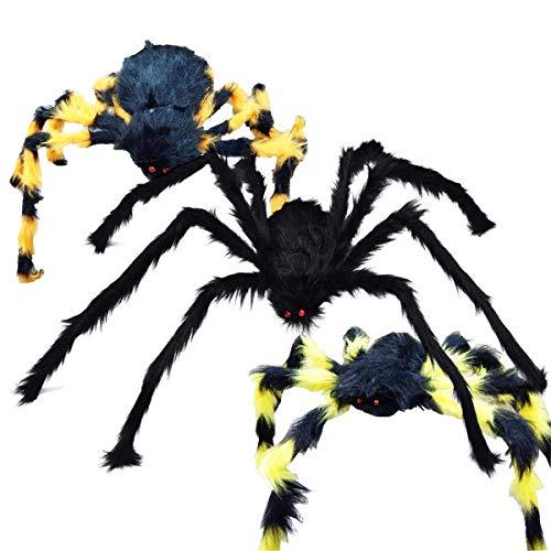 Osuter 2PCS Araña Gigante Peluda Araña de Halloween Falsa Juguete Insectos para Halloween Fiesta Decoracion
