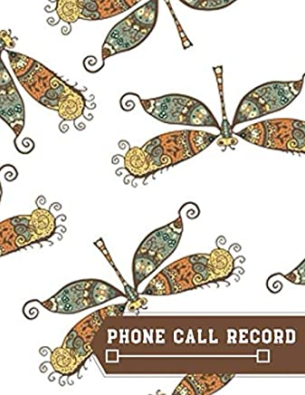 """Phone Call Record: Contact Phonebook Memo Organizer Register Record Notepad Tracker Monitoring Journal Logbook Notebook Recorder to Monitor and Track ... 8.5""""x11"""" with 120 pages (Phone logbook)"""