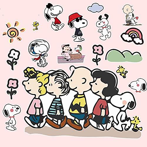 BUCUO Japón y Corea del Sur Snoopy Etiqueta engomada del Ordenador portátil Impermeable de Dibujos Animados Lindo Maleta Etiqueta engomada de la Maleta