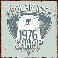 Lolar Ice 1976 Memento 金属板ブリキ看板警告サイン注意サイン表示パネル情報サイン金属安全サイン