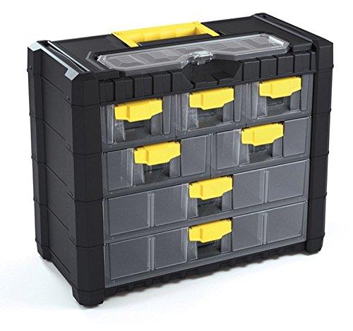 Terra 5900369100 Sortimentskasten mit Organizern aus Kunststoff 40x20x32,6 cm