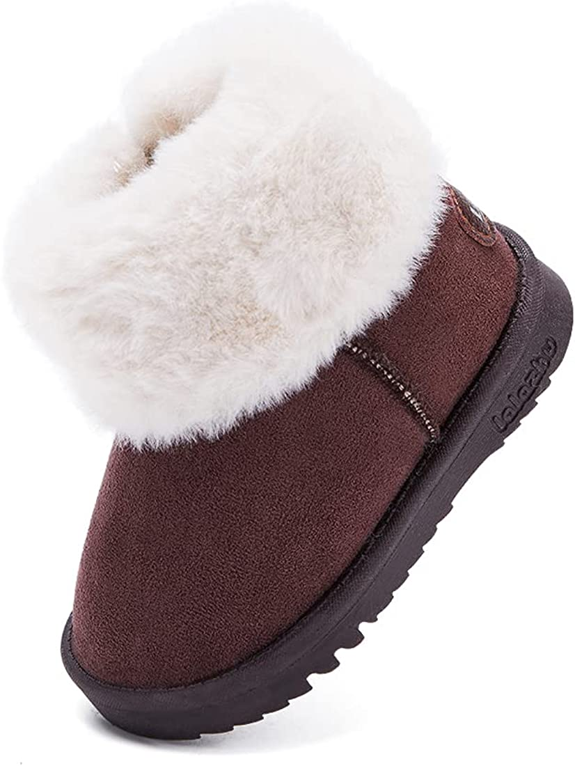 BMCiTYBM Girls Boys Snow Brand Cheap Sale Venue Boots Warm Baby Sacramento Mall Fur Winter Shoes Lined