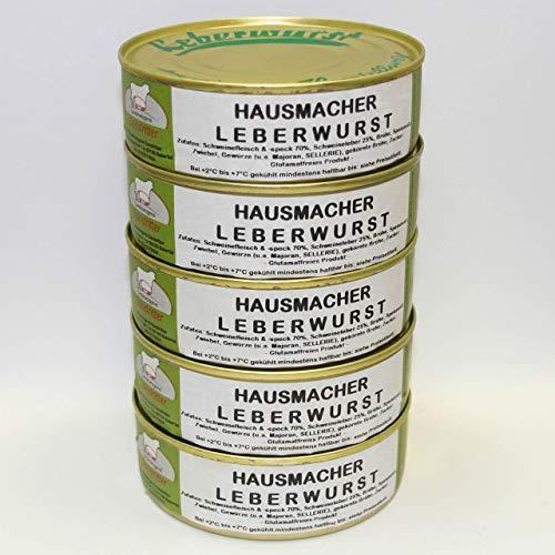 Hausmacher Leberwurst 5x200g Dosenwurst/ Wurstkonserven, Vorteilsset, Vorratsset, Landmetzgerei Sandritter