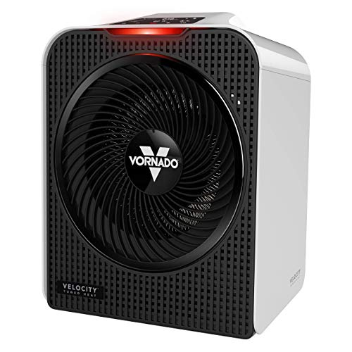 Vornado Velocity 5 Whole Room Space Heater with Auto Climate Control, Timer, and Safety Features, Large, White (Renewed)