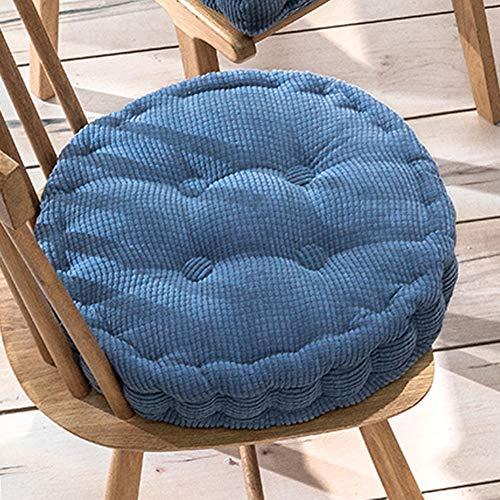 Xpnit Sitzkissen für Stuhl, quadratisch, rund, 10 cm dick, 40 x 40 x 8 cm, Blau