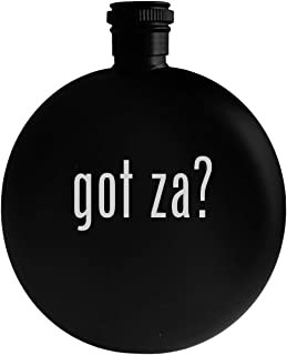 got za? - 5oz Round Alcohol Drinking Flask, Black