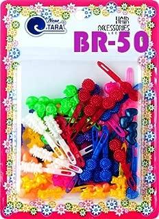 Tara Girls Super Cute Self Hinge Plastic Mulit Design Hair Barrettes Selection (BR50)