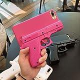 Maha La Custodia per iPhone È Dotata di Una Bella Forma A Pistola Antifurto,Una Custodia Antiurto E Una Copertura Protettiva Completa-Rose Red_Iphone11_PRO_Max