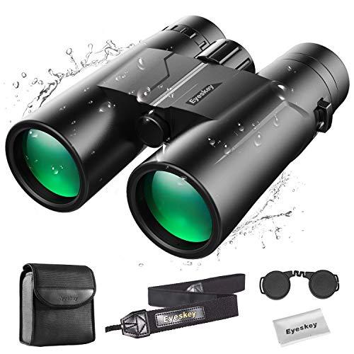 Eyeskey - Prismáticos compactos 10 x 42 para adultos | Prismáticos profesionales impermeables a prueba de niebla para observación de aves | Fácil enfoque | Visión crepuscular | Imagen estable clara y brillante